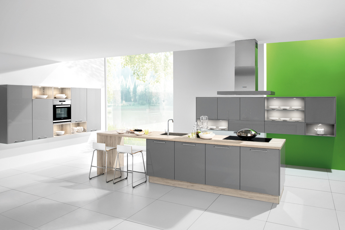 Cuisine taupe laqu view full size gorgeous kitchen for Cuisine complete taupe